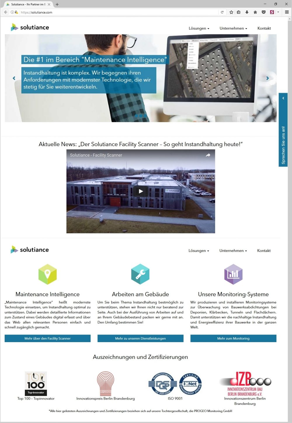 Solutiance Mit Frischer Website Am Start